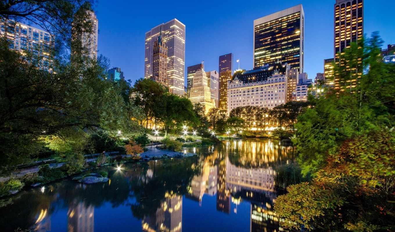 центральный, park, нью, york, new, manhattan, город,