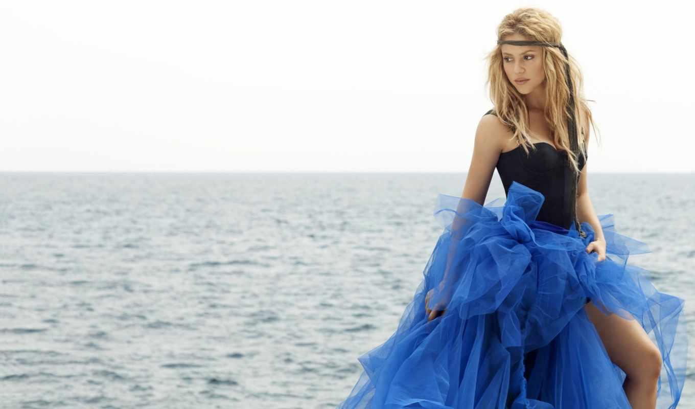 море, девушка, devushki, красивые, shakira, blue, красивая, singer,