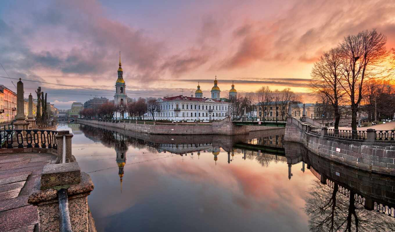 петербург, санкт, закат