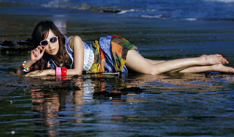 girl, summer, sea, desktop, download,
