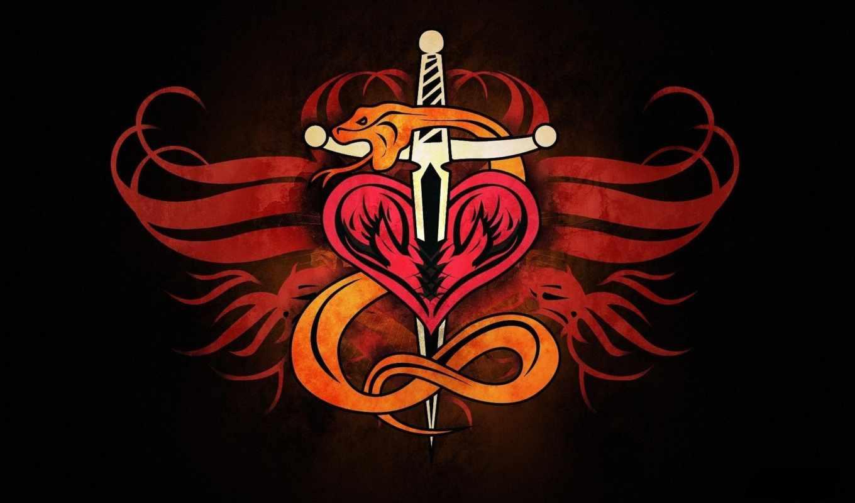 сердце, схема, вышивки, крестом, range, snake, черная, canvas, символ, рыцарь, эмблема,
