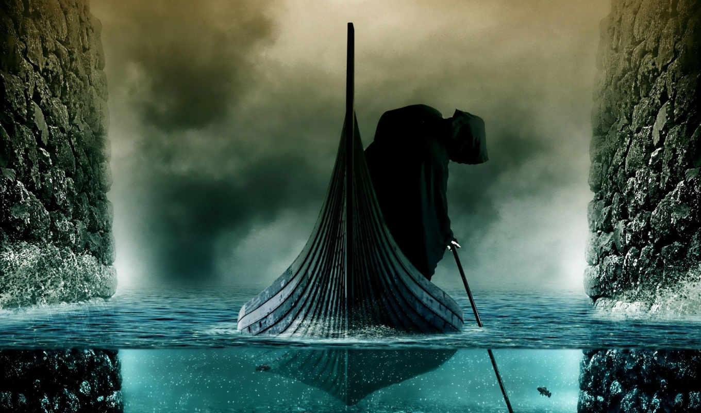 стикс, река, charon, чау, мертвых, kingdom,