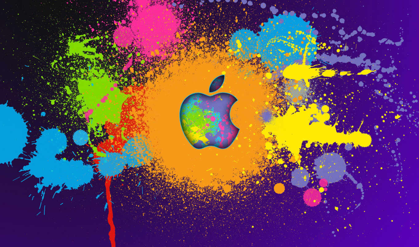 ipad, mac, original, paint, colorful, desktop, logo