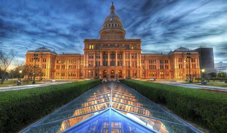 building, texas, капитолий, architecture, капитолия, прочая, аллея, штата,