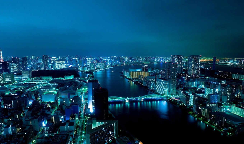 ,широкоформатные, город,ночь,мост,