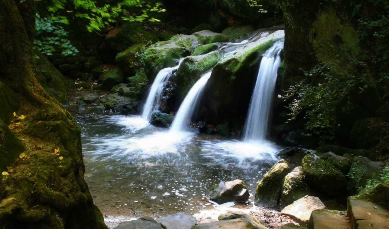 обои, красивые, не, водопады, широкоформатные, quo