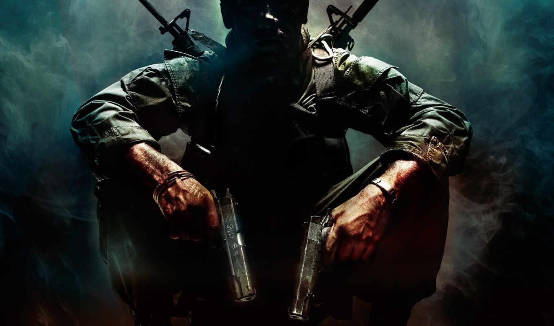 black, ops, call, duty, оружие, темный, стрелок, воин, дым, пистолеты, similar,