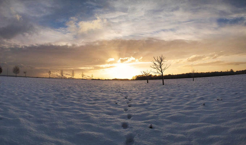 panorama, ayak, зима, resimleri, izi, landscape,