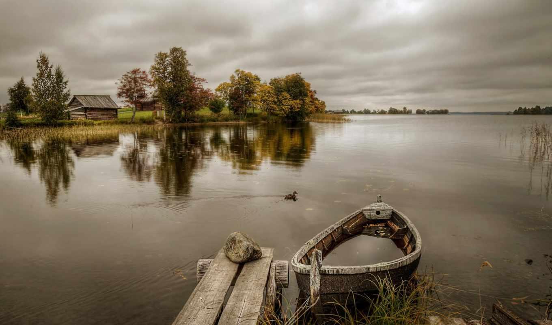 гордеев, eduard, фотограф, лодка, причала, деревянного, изображение, картинка,