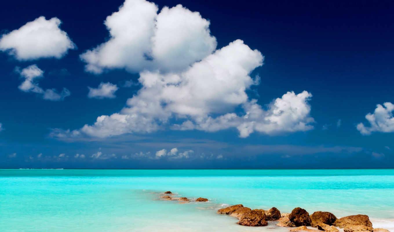 природа, море, облака, небо, песок, landscape, пляж, water,