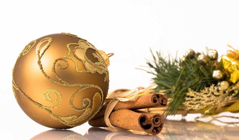 настроение, новогоднее, год, new, мяч, еловая, cinnamon, веточка,