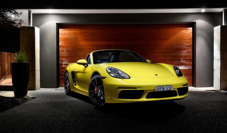 porsche, boxster, roadster, автомобили, yellow,