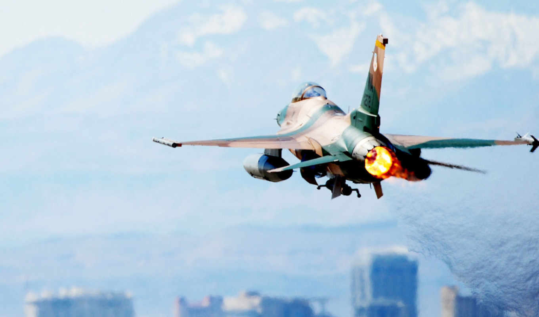 fighting, general, dynamics, falcon, истребитель, самолёт, небо,