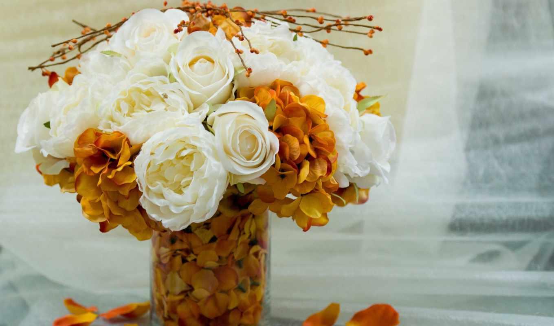 фотонатюрморт, цветы, розы, ваза,осень