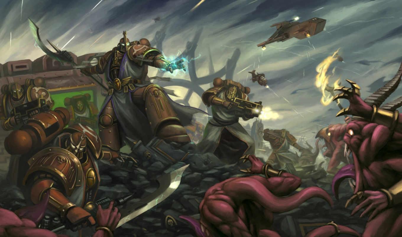 warhammer, marines, space,