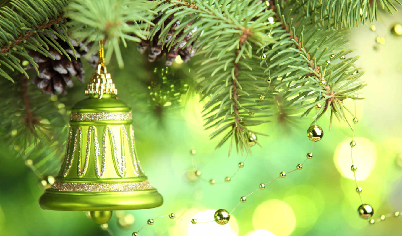 christmas, год, new, merry, дерево, decoration, bell,