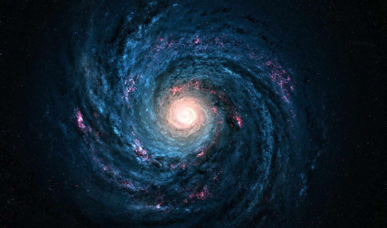 путь, млечный, galaxy, космос, звезды, спиральная,