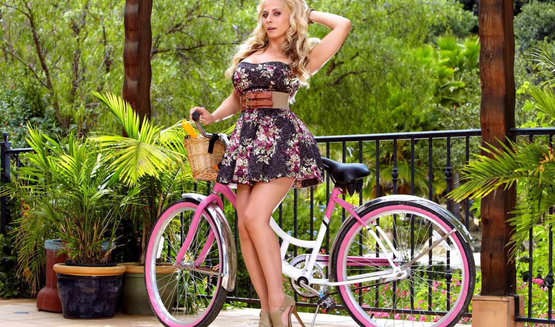 madison, велосипед, ivy, devushki, blonde, платье, юбка, иви,