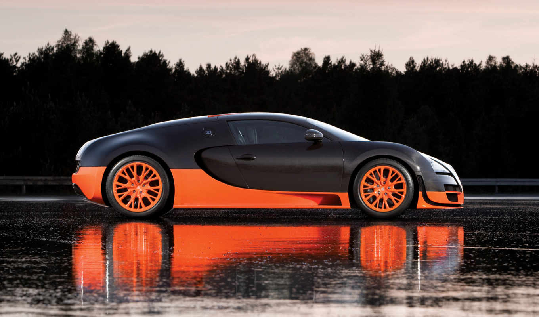 bugatti, veyron, спорт, супер, supersport,