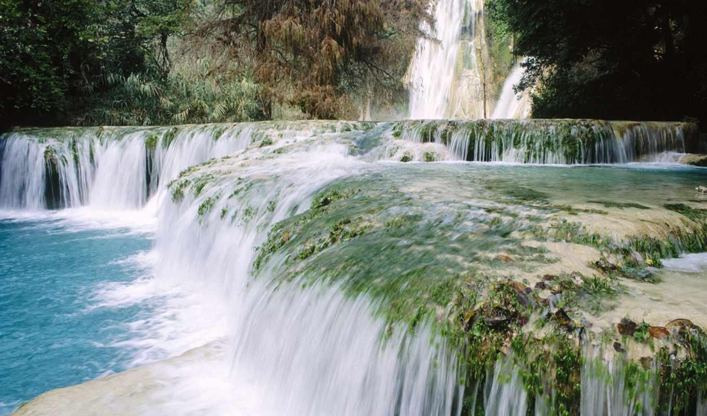 водопад, природа, mexico, стране, экосистем,