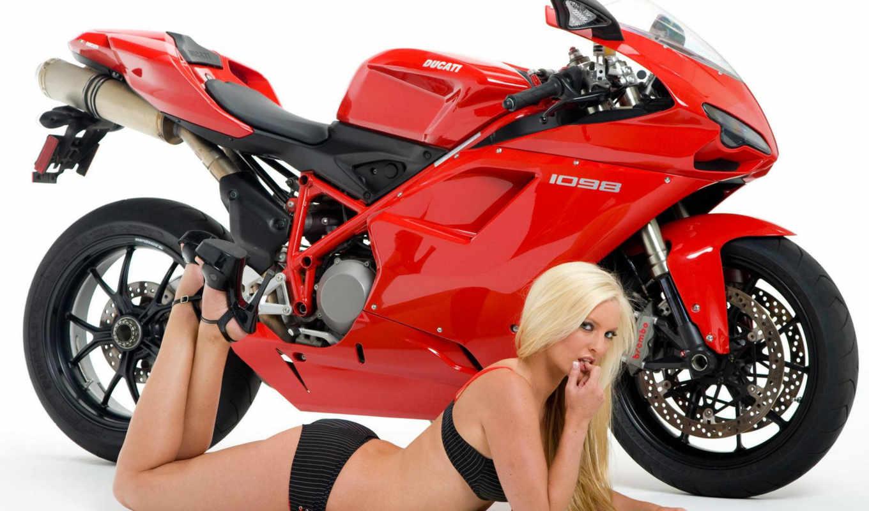 девушки, мотоциклы, ducati, фото, обои, мотоциклов