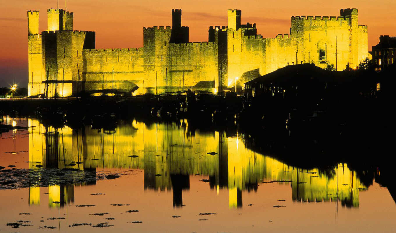 caernarfon, castle, pe, united, часть, kingdom, wales, города, download, desktop,