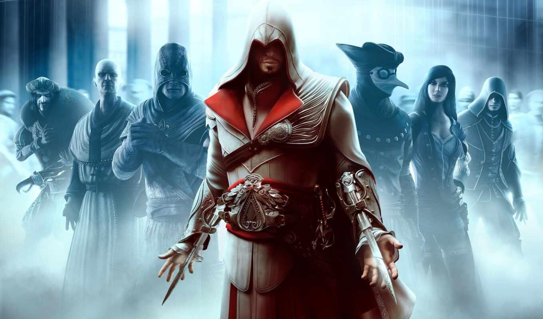 creed, assassin, игры, brotherhood, эцио, да, assassins, firenze, auditore,