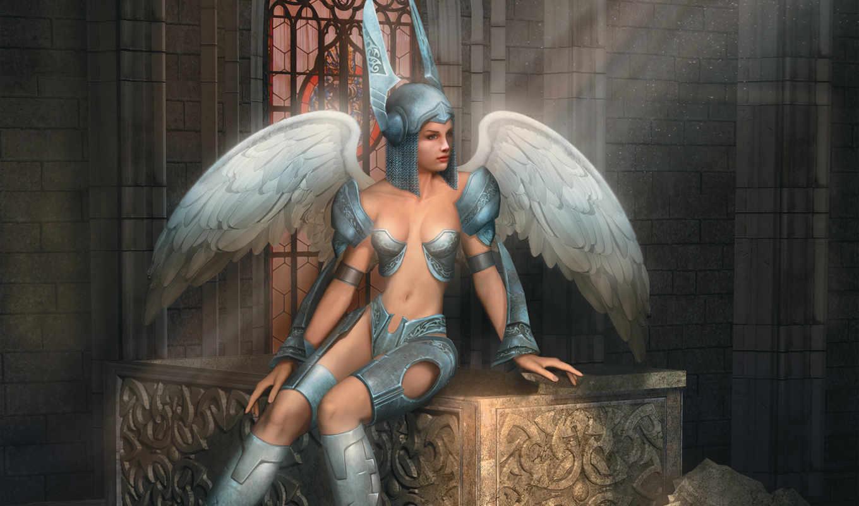 etherlords, игры, воительница, доспехи, девушка, крылья, game, шлем, картинка, games, видео, имеет,