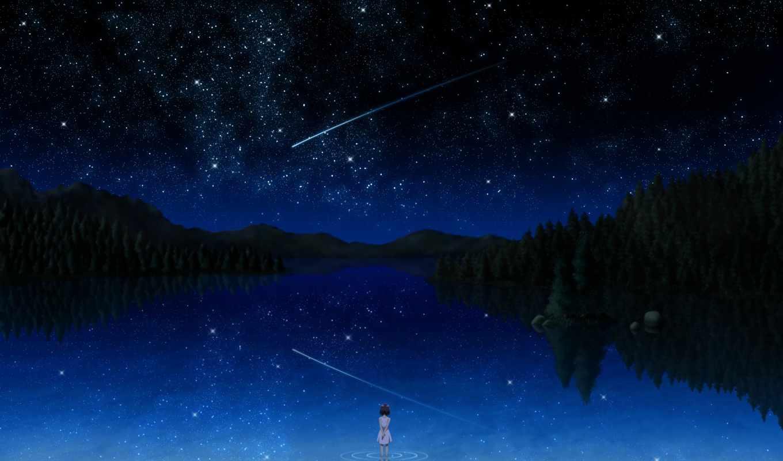 black, than, darker, anime, звезды, небо, night, pictures, dream, similar,