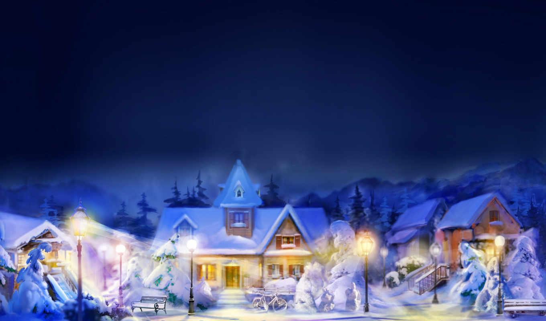 зимние, пейзажи -, landscape, снег, vacation, winter,