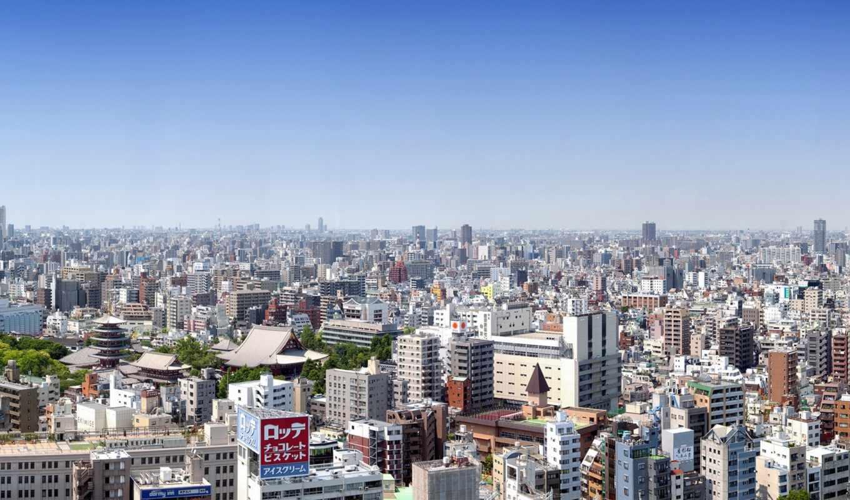 tokyo, япония, панорама, здания, дорога, iphone,