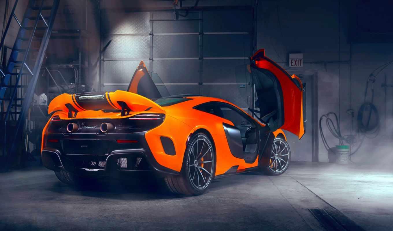 оранжевый автомобиль mclaren бесплатно