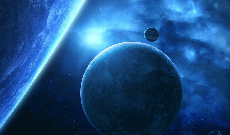 космос, планеты, звезды, картинка, картинку, арт, qauz,