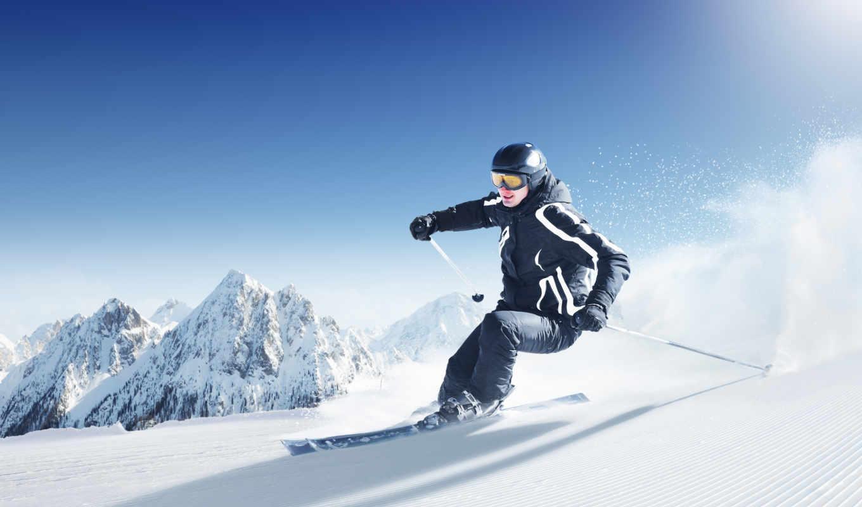лыжи, снег, горы, спорт, горные, norheim, skiing, лыжник, ski, картинка, спуск,