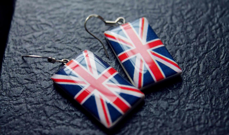 флаг, англия, великобритания, тетрадь, серьги,