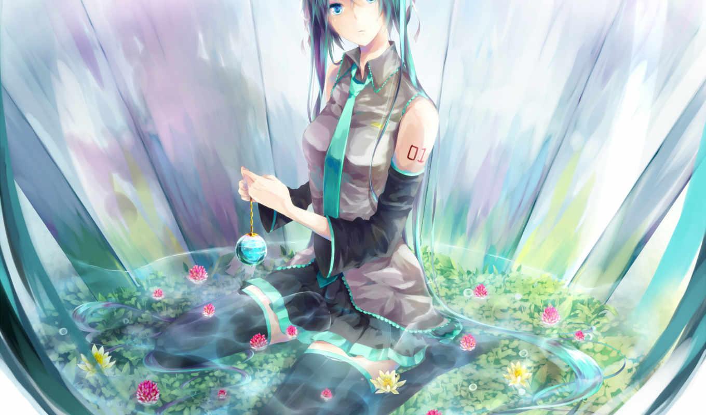 miku, hatsune, аниме, vocaloid,