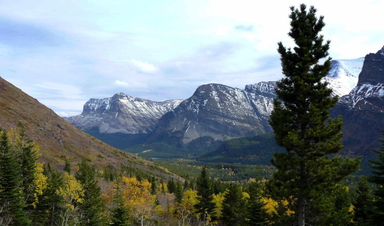 usa, природа, картинка, landscape, park, montana, вид, glacier, горы, сверху,