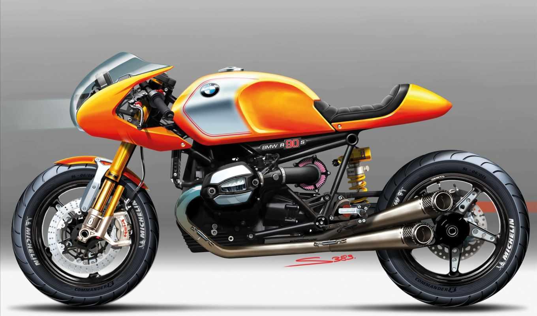 bmw, ninety, мотоцикл, concept,