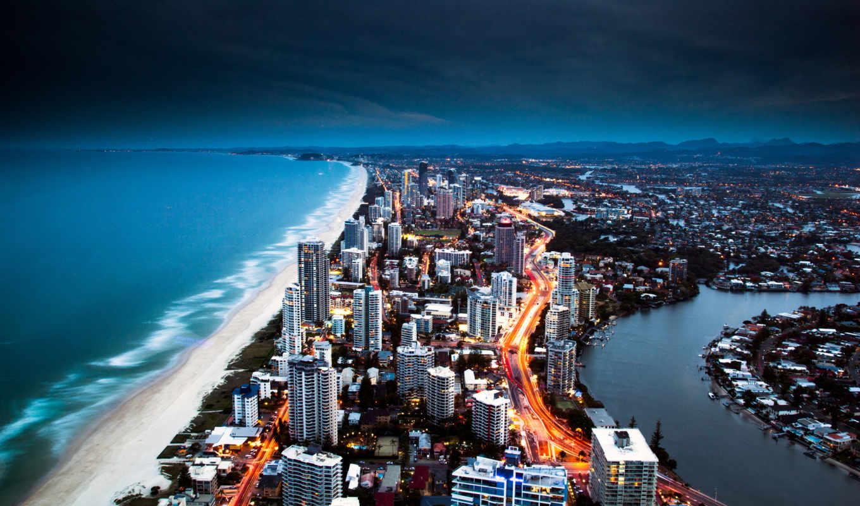 города, город, широкоформатные, есть, берег, zhivotnye, заставки, побережье, gold,