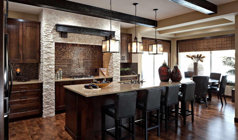 кухни, design, kitchen, soft, угол, дерева,