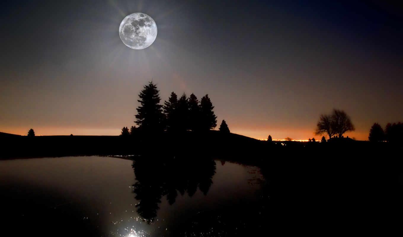 луна, суперлуние, земляне, июнь, увидели, ночь, moonlight, sollerti, фоны,