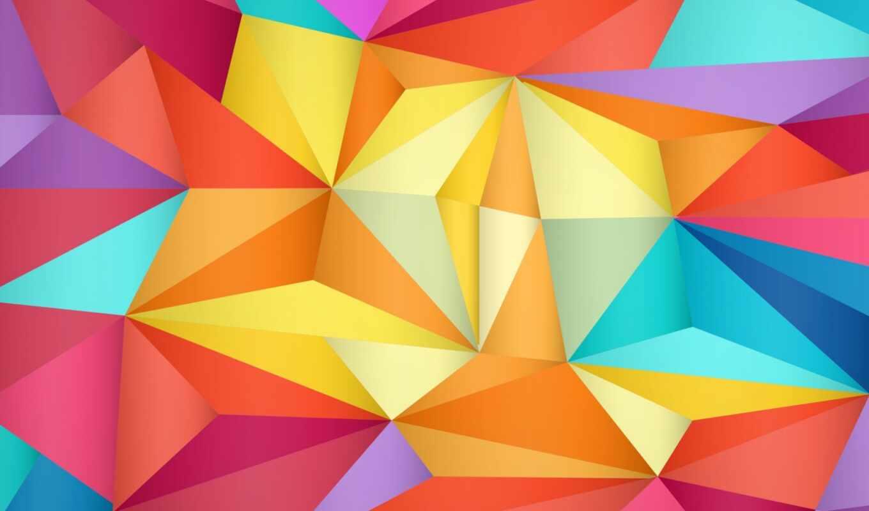треугольник, абстракция, фон, рисунок, thinkpad