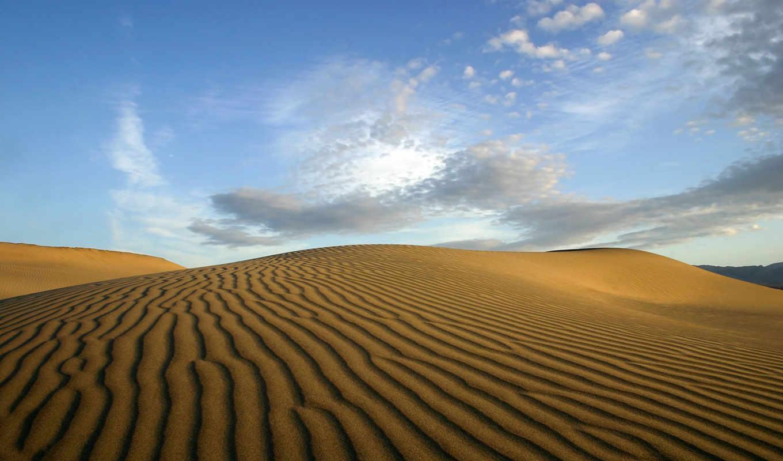 пустыня, облака, песок,