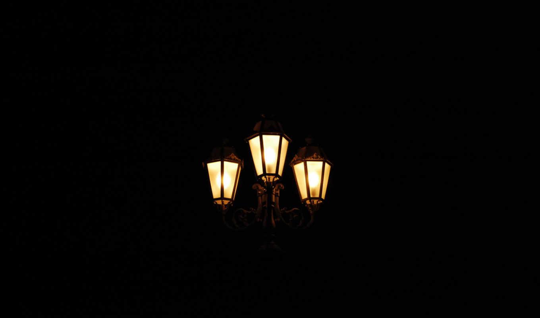 фонари, ночь, свет, картинка, этом,