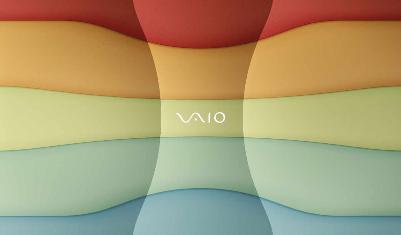 vaio, sony, notebook, logo, blue, red, yellow