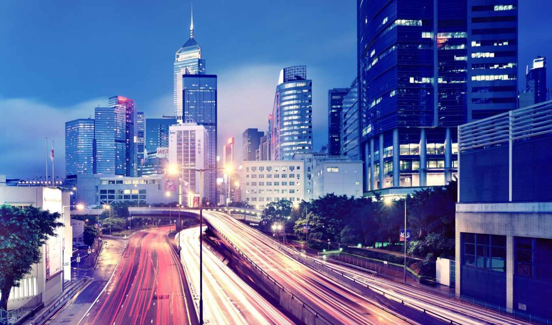 город, огни, города, мегаполис, ночь, здания, нов, небоскребы, только, разделе,
