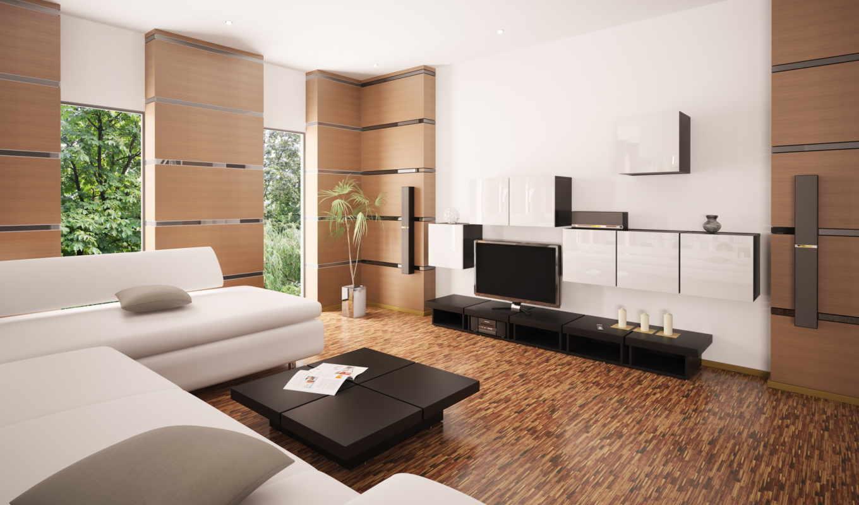 тв, интерьер, design, диван, столик, подушки, комната,