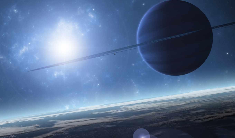 космос, planet, sci, свет, ринг, blue, planets,