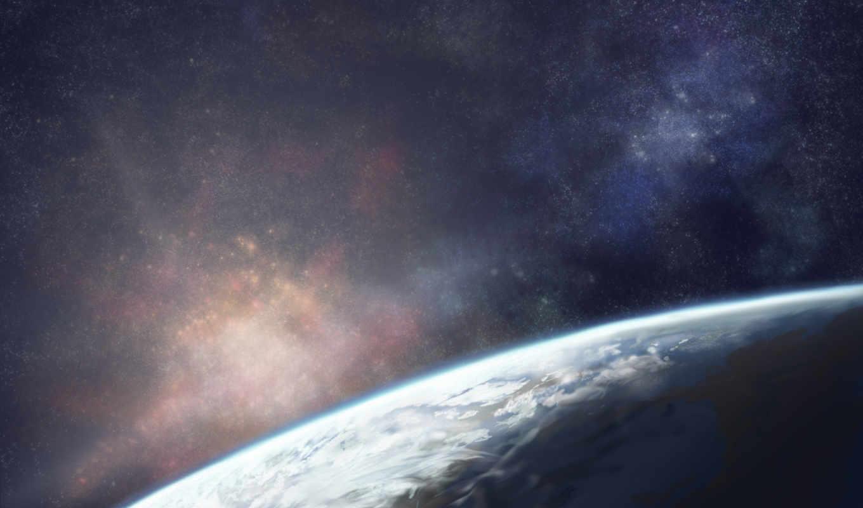 cosmos, небо, planet, land,