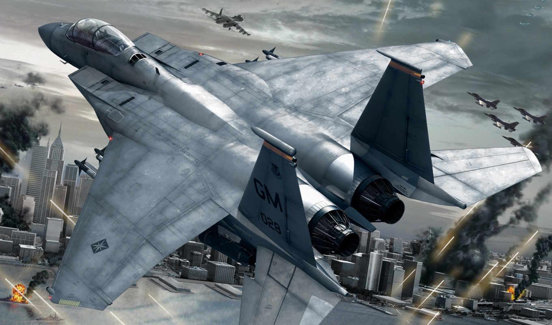 strike, самолёт, орлан, прилавок, истребитель, военный,